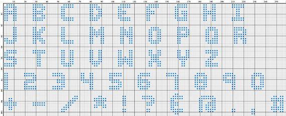 DOTTY (2 Schriftgrößen inkludiert)  Komplettes Alphabet Stickmuster mit Buchstaben, Zahlen und Sonderzeichen im coolen gepunkteten SciFi Style.  Mit diesem Muster kannst du Deinen Stickbildern eine ganz persönliche, einzigartige Note verleihen. Schreibe damit was immer du willst oder was immer du Deinen Freunden und Liebsten mitteilen möchtest !  Die passenden Sticktwiste in bunten, Regenbogenfarben findest du [hier](https://www.makerist.de/supplies/sticktwist-von-dmc-8-m) im Makerist…