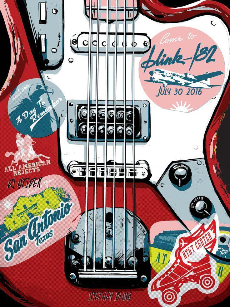 Blink 182 gig poster. San Antonio. 2016