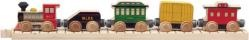 Classic Train Car Set from Turner Toys.  Steam engine, coal tender, passenger car, freight box car and caboose on 11-inch straight track.  Made in USA!