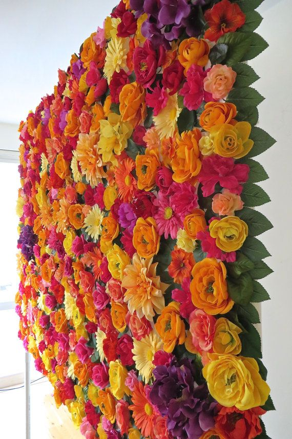 5' x 6.5' Floral Photobooth Backdrop // FREE by WallFlowersByKate
