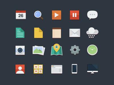 Des1gn ON - Blog de Design e Inspiração. - http://www.des1gnon.com/2013/06/freebies-17-%e2%80%a2-pacotes-de-flat-icones/
