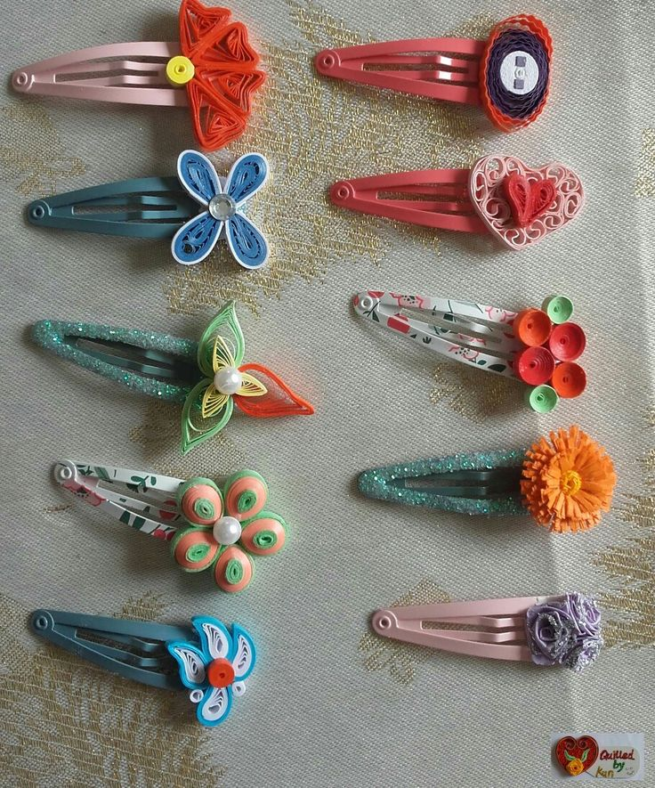 quilling hair pieces
