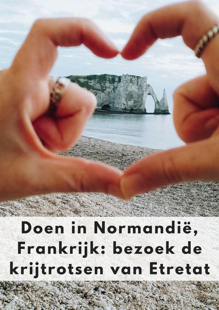 vakantie Frankrijk, doen in Normandië, zien in Normandië, bezoek de krijtrotsen Normandië, krijtrotsen Etretat - Map of Joy #etretat #mapofjoy #frankrijk