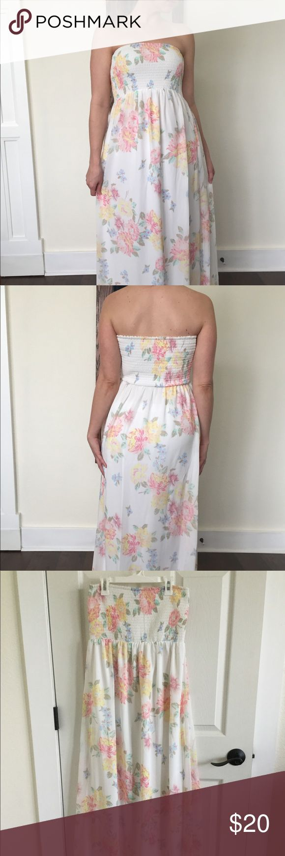 Old Navy Floral Maxi Dress Lovely Old Navy Floral Maxi. Can even be used as a maternity dress. Worn twice and in excellent condition. Hits just above the floor on me when I am barefoot and I am 5'4. Very comfortable, perfect for spring and summer! Non-smoking and pet free home. Old Navy Dresses Maxi