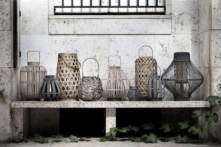 Decorative lanterns made of wood by Broste Copenhagen
