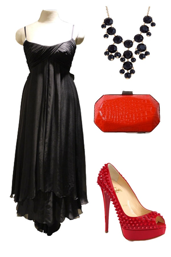 if I can make a different theme for the AsiasNTM shoot using the gorgeous #BlinkGallery dress I would use it with Red Studded Patent Leather Platform Pumps by Christian Louboutin for eye popping color,Christian Siriano red clutch to match it and a black statement necklace to top it off #BlinkGalleryOnAsiasNTM :)