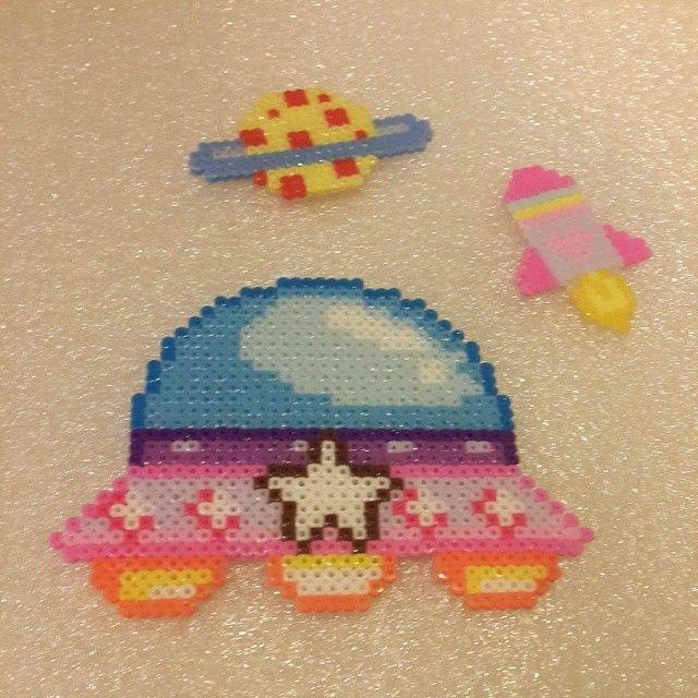 UFO perler beads by doris6k