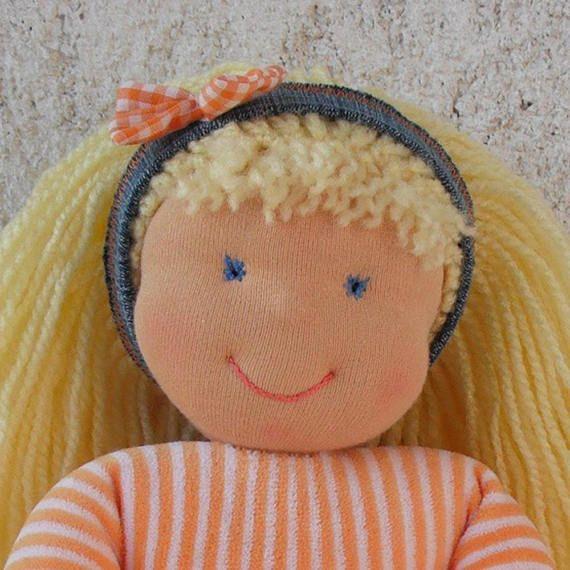 Handmade rag doll in Waldorf style   #handmadedoll #ragdoll #fabricdoll #waldorfdoll