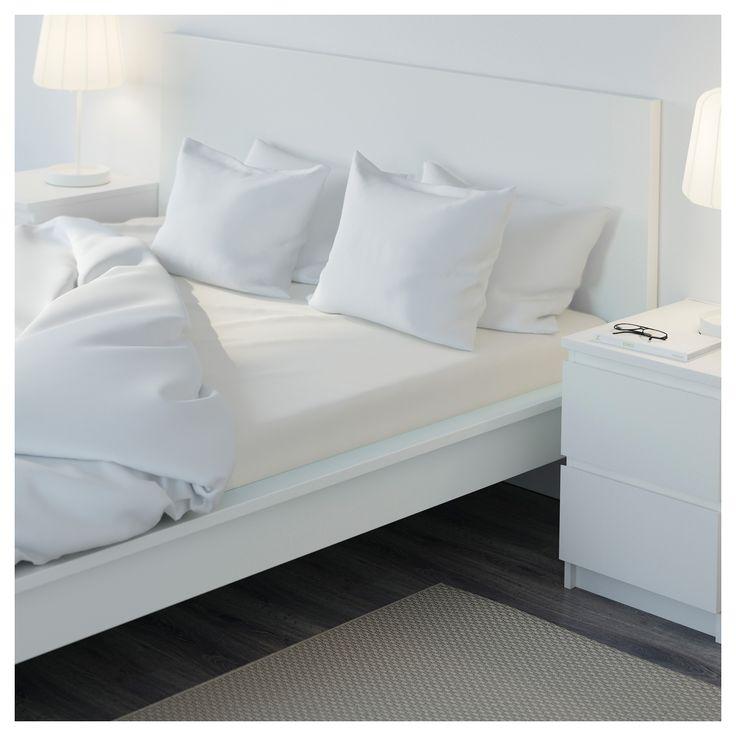IKEA - SÖMNTUTA Fitted sheet white