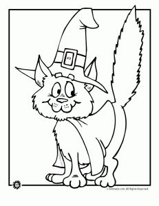 cute halloween coloring pages halloween witch cat coloring page fantasy jr
