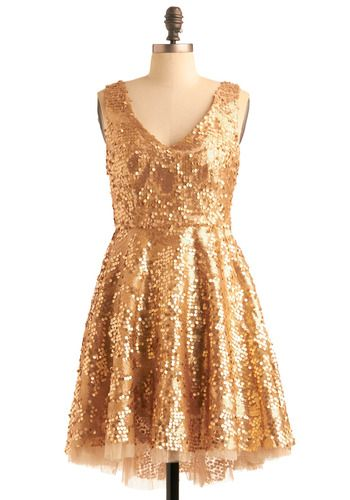 Striking Gold Dress