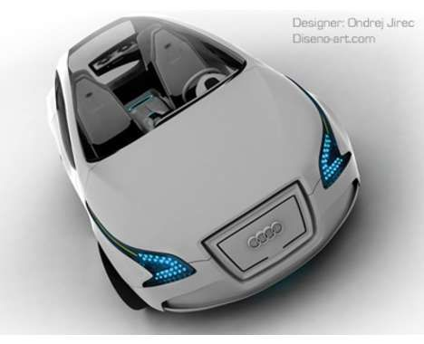 Hybrid Audi concept car. Or the Tron car, as I will call it.