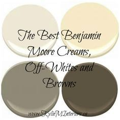 The Best Benjamin Moore Neutral Colours - Cream, Brown, Off-White