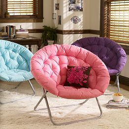 Are These Chairs Too Laid Back For Our Room? Just An Idea! (Solid  Hang A Round Chair