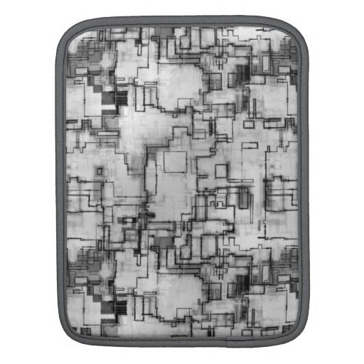 Abstract technical pattern iPad sleeves