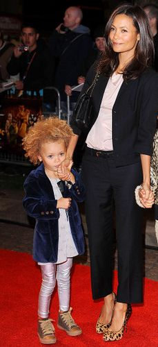 Thandie Newton and daughter Nico