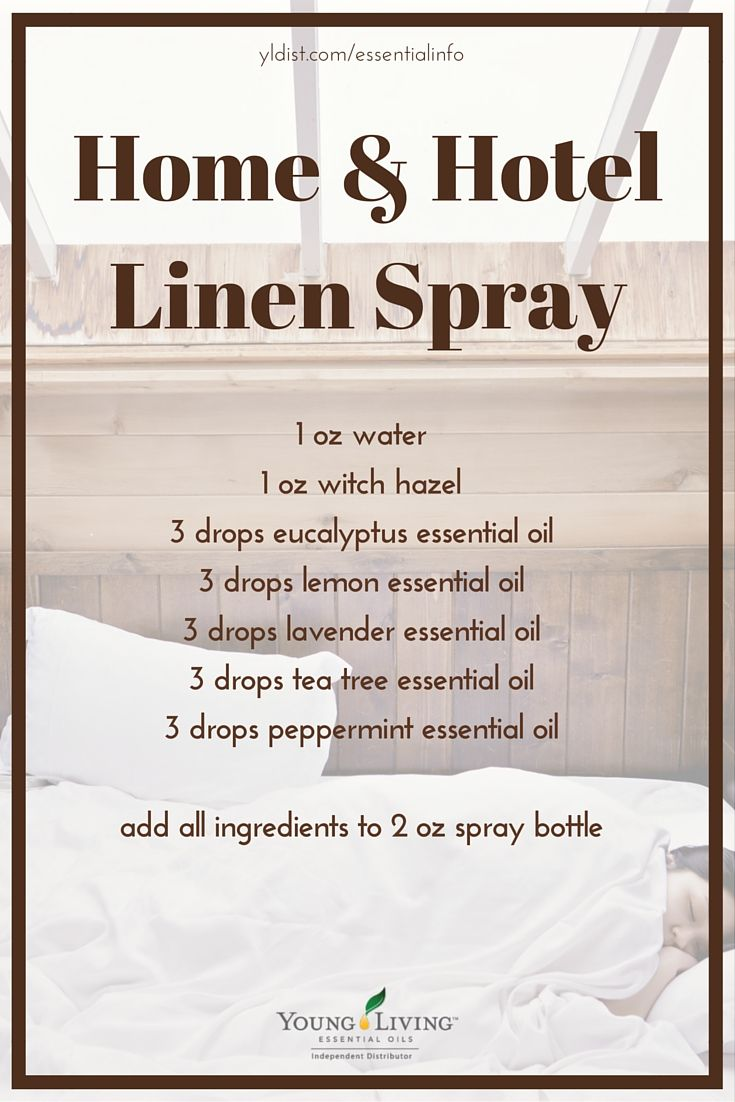 My absolute FAVORITE essential oil linen spray that I can DIY whenever I need more. Sheets smell amazing and bedroom feels like a spa.