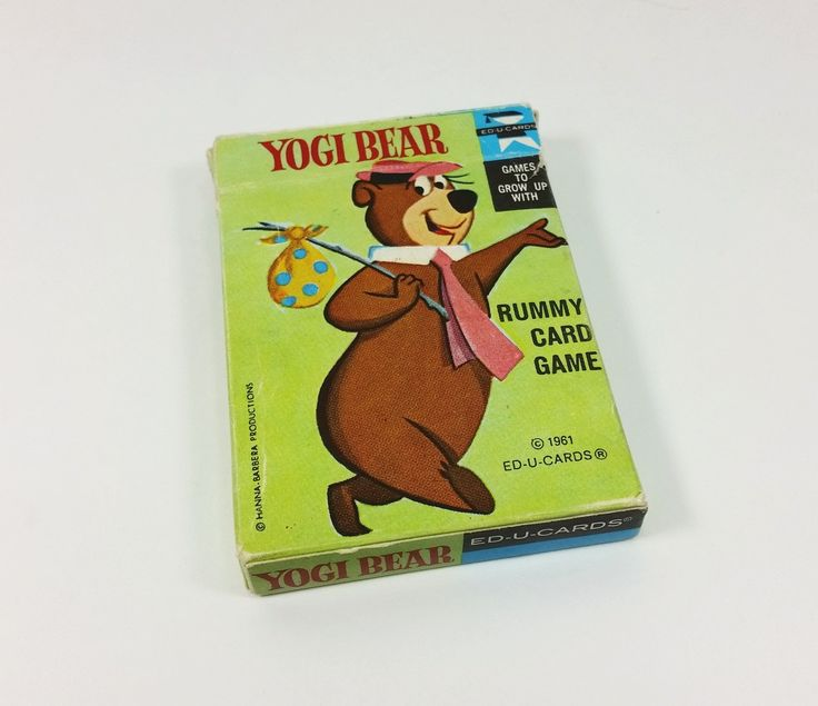 Yogi Bear Rummy Card Game, Ed - U - Cards Games to Grow Up With, 1961 Hanna Barbera Game by naturegirl22 on Etsy