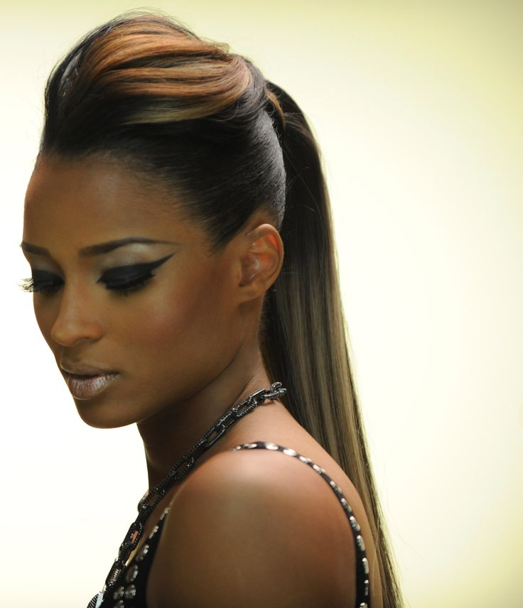 Ciara with a ponytail | Hair | Pinterest | Bobs, Hair and ...