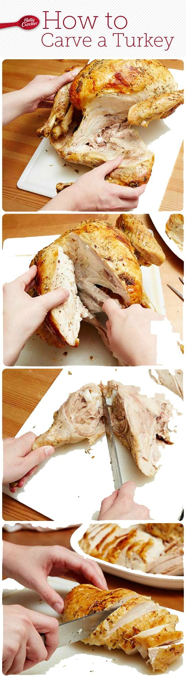 Betty shows you how to divvy up the Thanksgiving turkey in 4 simple steps!