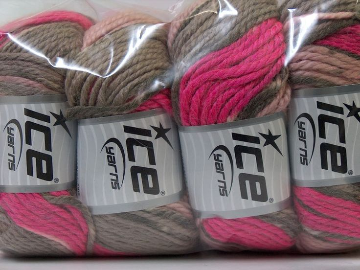 Alpaca Bulky Magic Pink Light Pink Grey