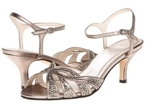 Caparros Heirloom Silver Metallic mother of the bride shoes.