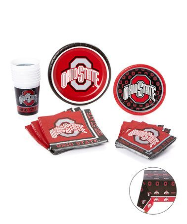 Another great find on #zulily! Ohio State Buckeyes Party Plate Set by Creative Converting #zulilyfinds