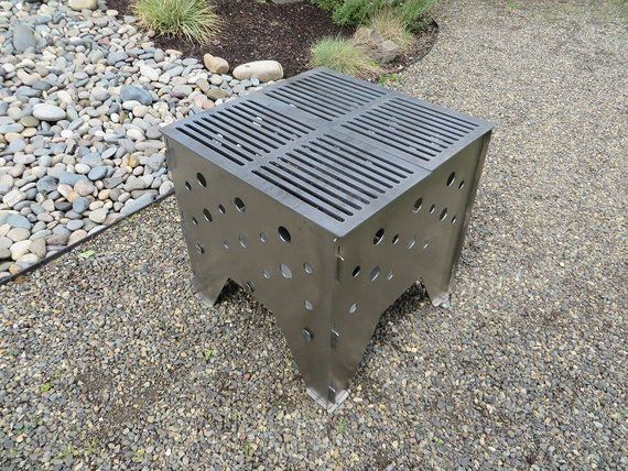 Portable Fire Pit And Grill All In One This Is A Great Product For All You Outdoors People And Grillers Wa Outdoor Fire Pit Fire Pit Grill Portable Fire Pits