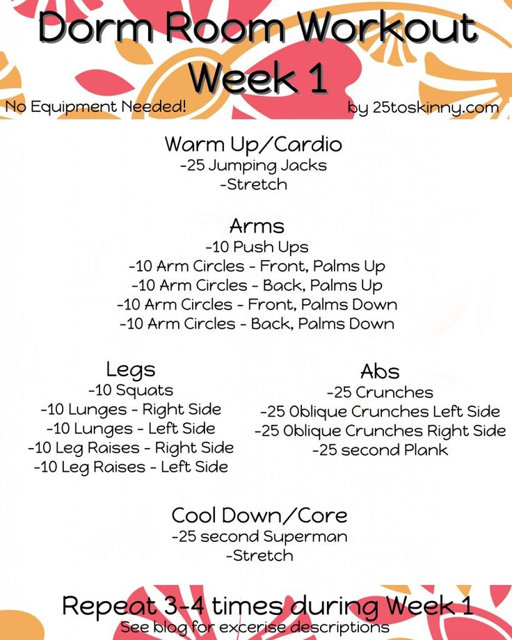 More Dorm Room Workouts