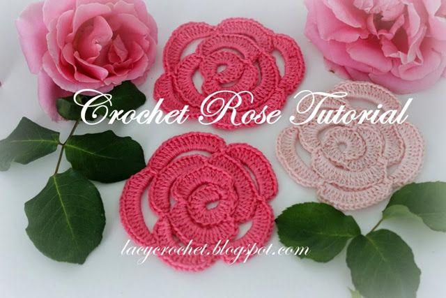 http://lacycrochet.blogspot.com/2013/09/crochet-rose-tutorial.html
