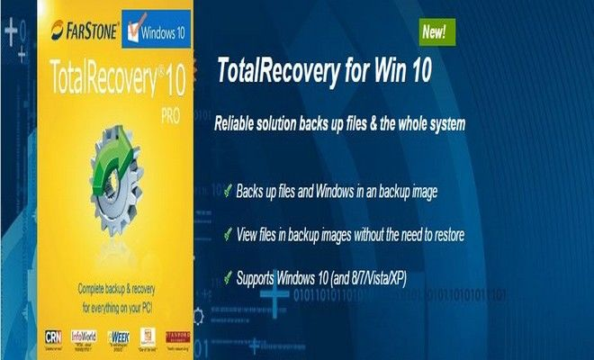 TotalRecovery Backup Software for Windows 10
