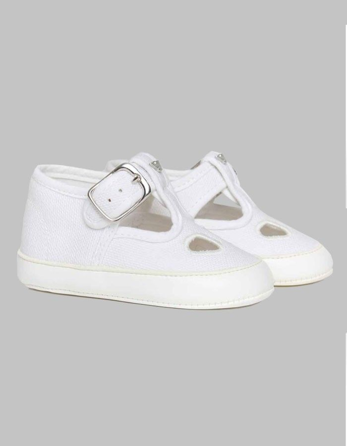Armani Junior White Canvas Shoes | Accent Clothing