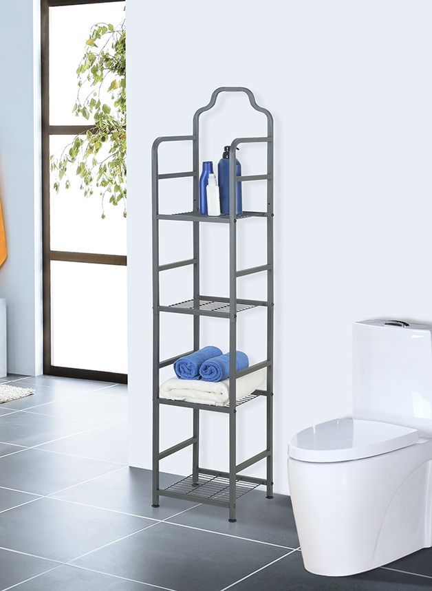 Your bathroom will stay neat and organized when you add extra shelving with our 4-tier bath tower! Shop now ---> https://www.tidyliving.com/4-tier-bath-tower.html?utm_content=buffer1ea34&utm_medium=social&utm_source=pinterest.com&utm_campaign=buffer  #TidyLiving #BathTower #Bathroom #Organize #BathroomRack #BathroomStorage #StorageSolutions #BathroomShelf #CondoLiving #TinyHomes #Decor #HomeDecor #HomeIdeas