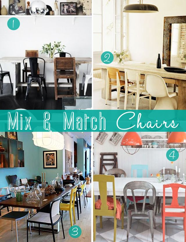 Interior Envy | Mix & Match Chairs