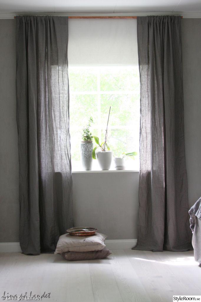 koppar,linne,gardiner,linnegardiner,sovrum,grått