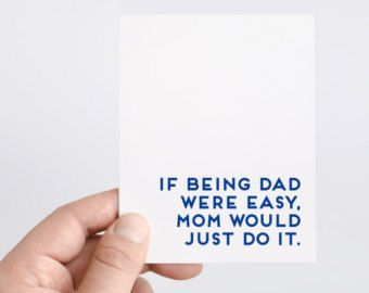 "[WORDS] Front: I hope this Fathers Day is as fun as your life was before kids. Inside: Happy Fathers Day!  [THE CARD] A2 card = 4.25"" x 5.5"""