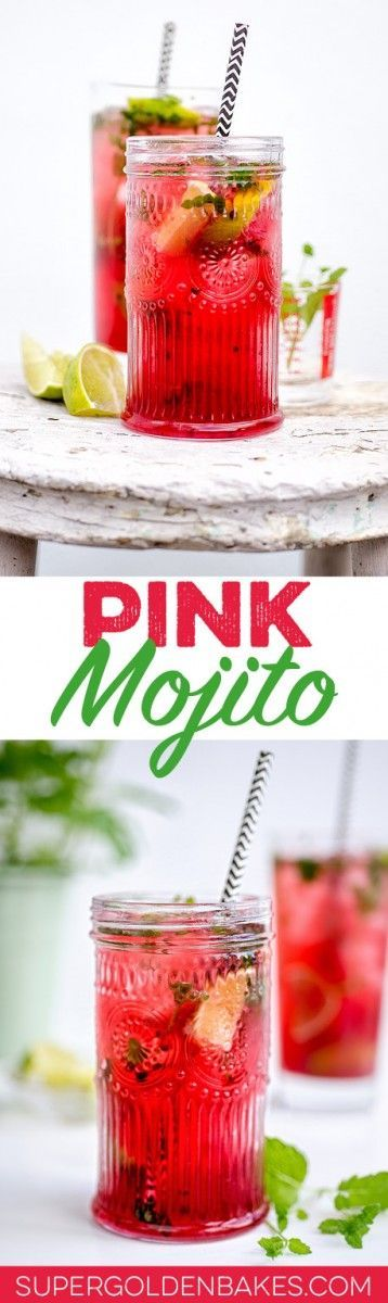 This pretty pink Mojito is the perfect cocktail for Spring!