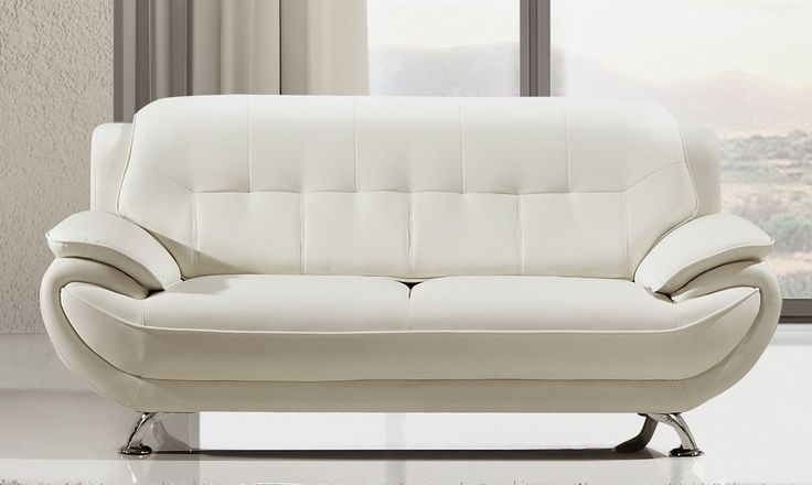 best 25 white leather sofas ideas on pinterest living room decor black leather sofa modern. Black Bedroom Furniture Sets. Home Design Ideas