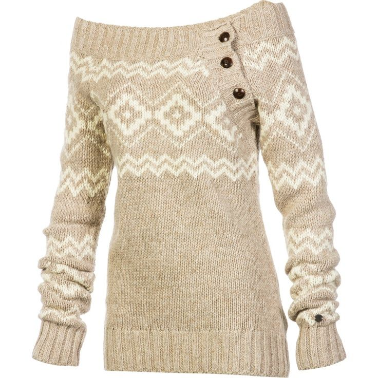 Cute sweater.  Mix w/ skinny jeans, or a tight leggings, and boots