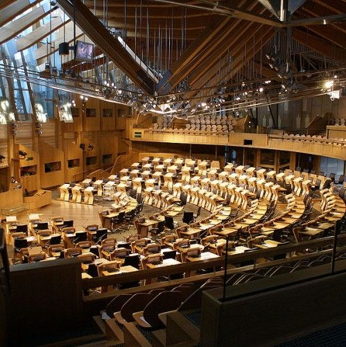 AD Classics: The Scottish Parliament / Enric Miralles | ArchDaily feel like in the amphitheatre  and compare to polish parliament, no comments...