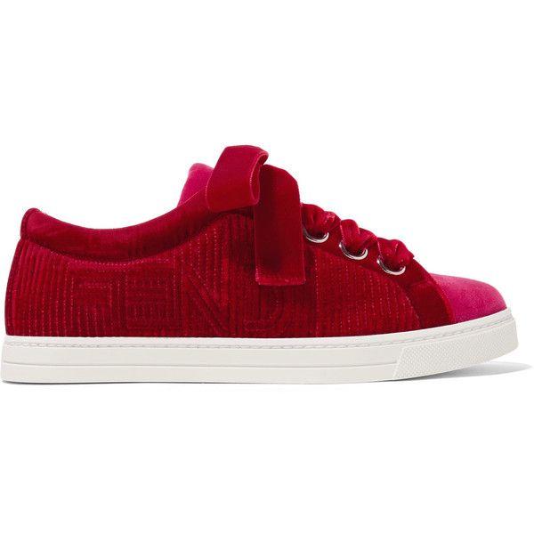 Fendi Two-tone velvet sneakers (€490