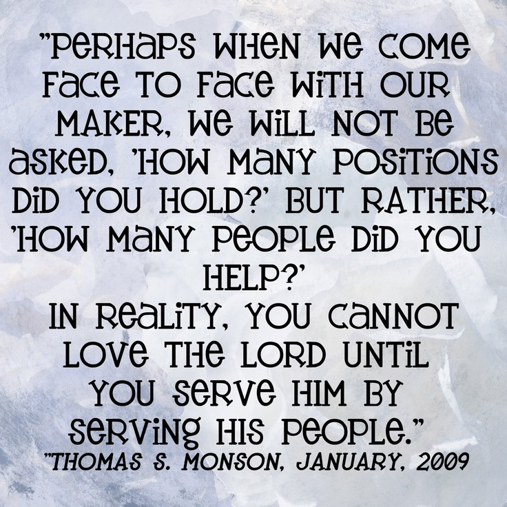 A sobering thought, do our lives really reflect that we love Hime whom we say we serve, and yet not alway serve His people when they are in need. Lord, help me to be more conscious of ministering not only to Frank, but, also to others. Service