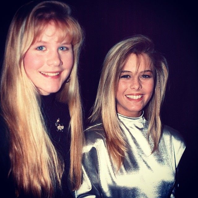 Josie Davis and Nicole Eggert from Charles in Charge