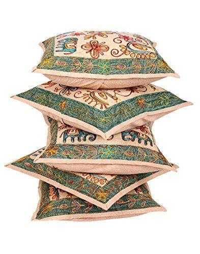 tnico-Cubre-Cojines-Sof-floral-de-Brown-para-la-decoracin