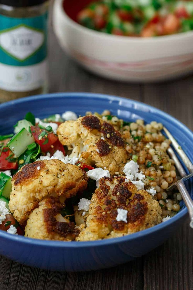 Herbed Couscous Recipe with Roasted Cauliflower – mediterranean