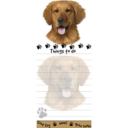 Golden Retriever Things To Do List Pad