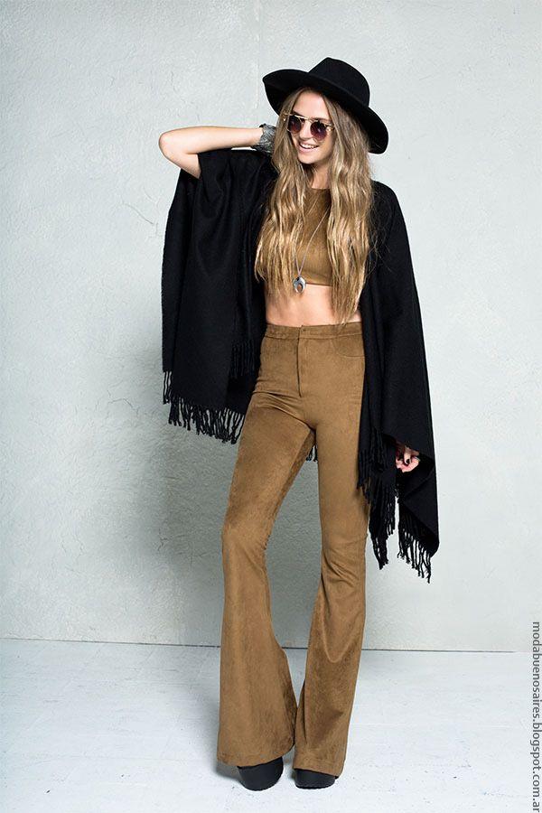 Pantalones oxford simil gamuza invierno 2016. Moda invierno 2016 47 Street.