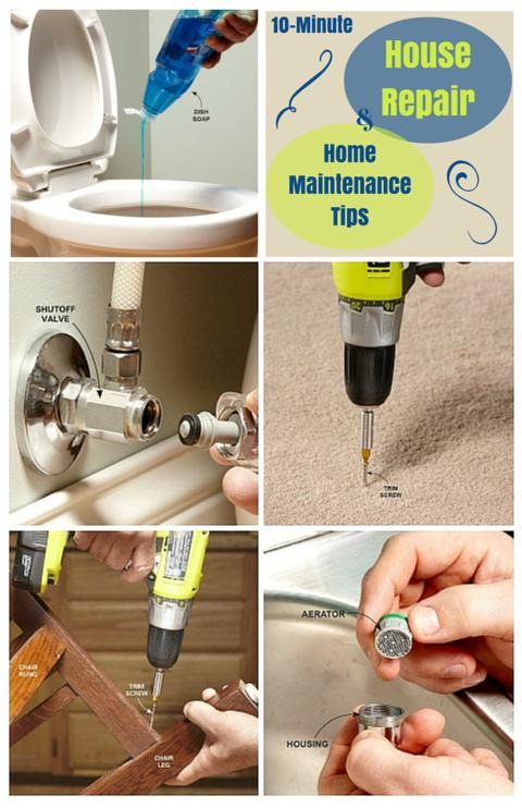 10-Minute House Repair and Home Maintenance Tips: Simple solutions to household headaches that take 10 minutes or less - these house repairs are quick and easy. http://www.familyhandyman.com/smart-homeowner/diy-home-improvement/10-minute-house-repair-and-home-maintenance-tips