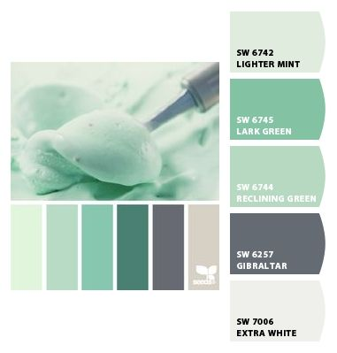 Lighter paint colors and mint on pinterest Very light mint green paint