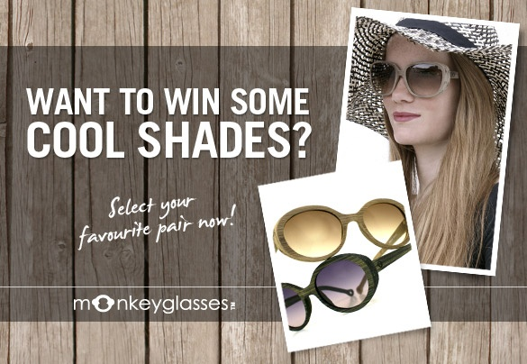 Want to win some cool shades? To participate, simply LIKE your favourite pair of sunglasses on our Pinterest board and e-mail us your name, name of the sunglasses, and e-mail address to: naw@boozt.com. Two lucky winners will win the pair they chose. Winners will be chosen at random and notified on 13th of June. Good luck! To read more about the competition, click here >> http://blog.boozt.com/2012/monkeyglasses-competition/